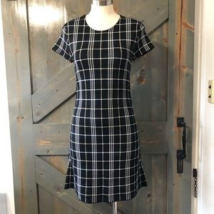 Theory Plaid Dress Size Small